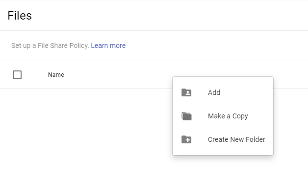 file share policy